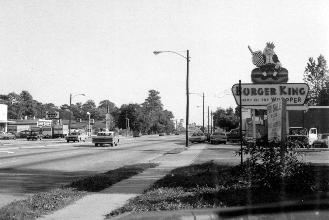 1960s Burger King Logo Sign in North Charleston, South Carolina