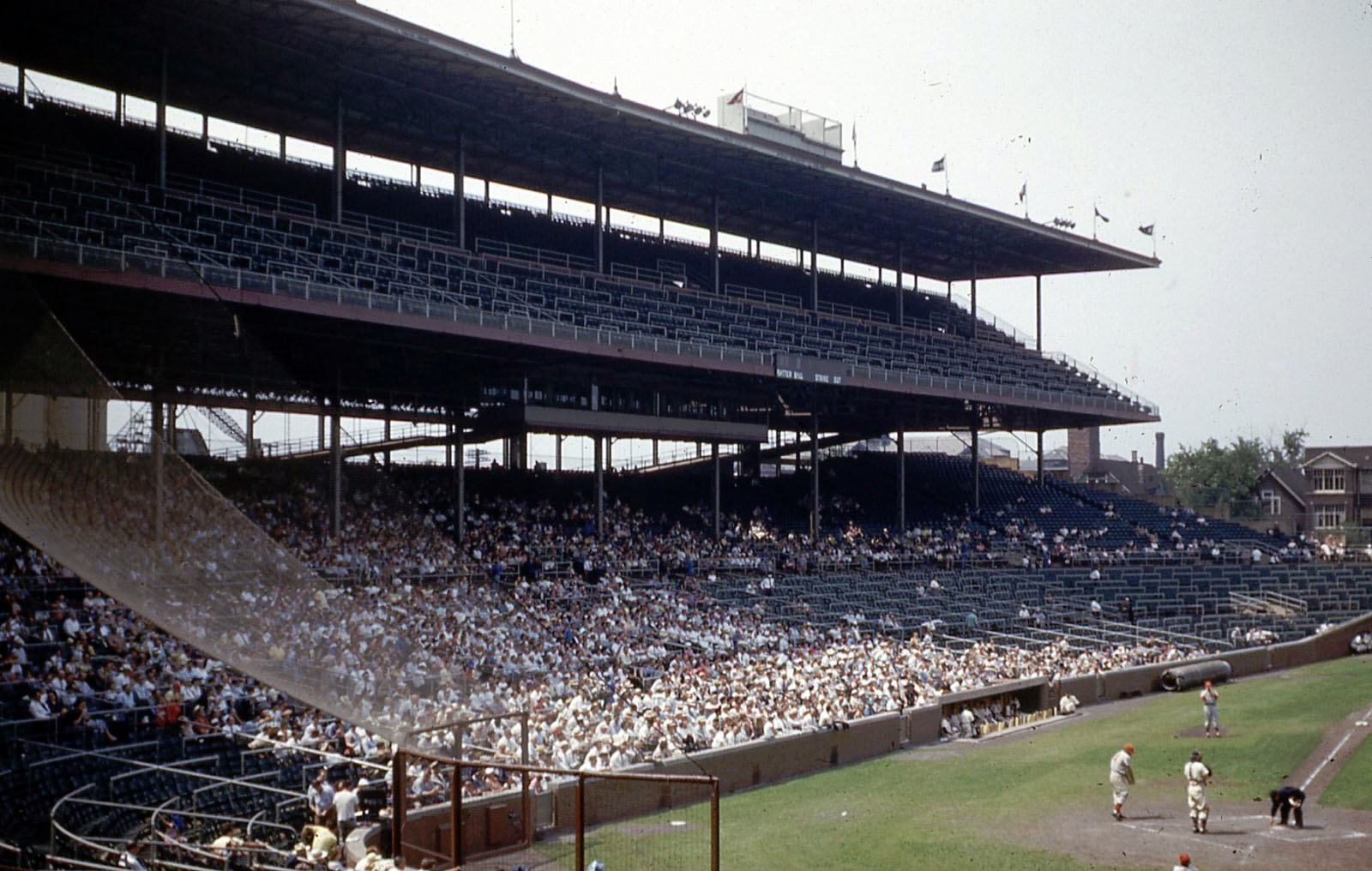 Kodachrome Chicago of 1953: Wrigley Field