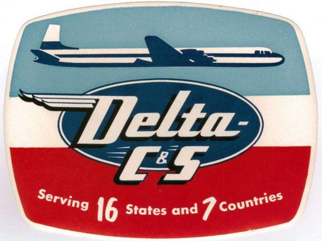 Delta C&S Air Lines logo (1953-1955)