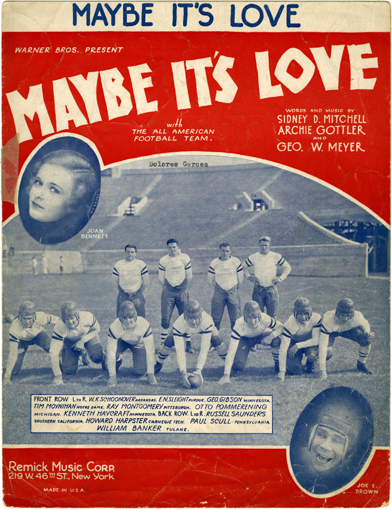 """Maybe It's Love"" - Sidney D. Mitchell, Archie Gottler, and George W. Meyer, 1930"