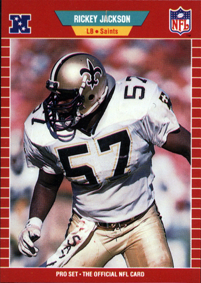 Rickey Jackson 1989 Pro Set football card