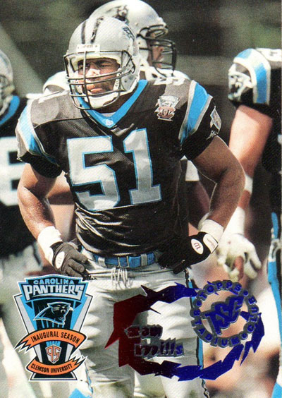 Sam Mills 1995 Topps Stadium Club football card