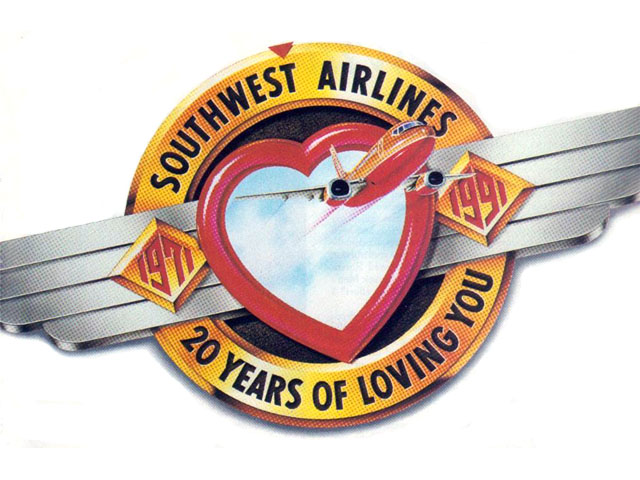 Southwest Airlines logo (1991)