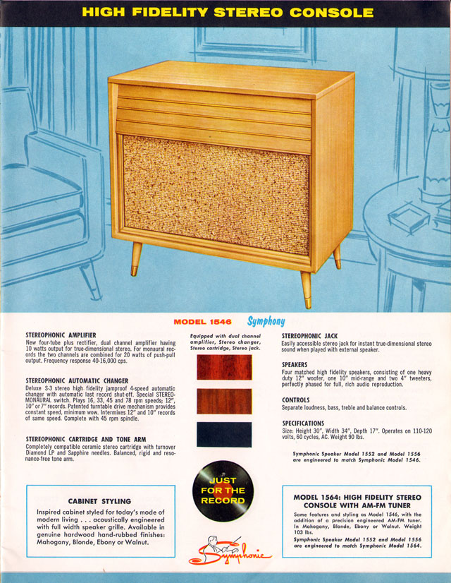 1959 Symphonic Phonographs Catalog (Symphony)