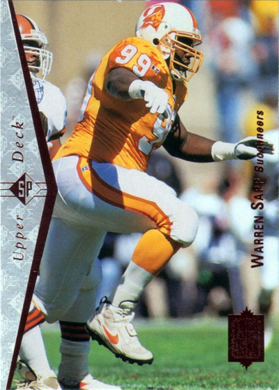 Warren Sapp 1995 Upper Deck football card