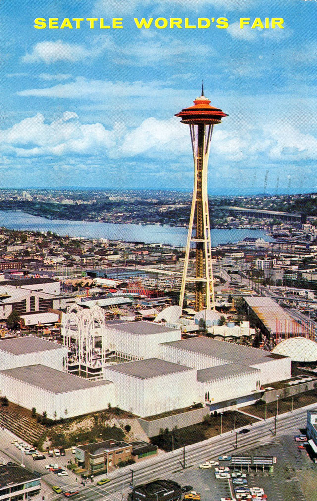 Vintage World's Fair postcard - Seattle (1962)