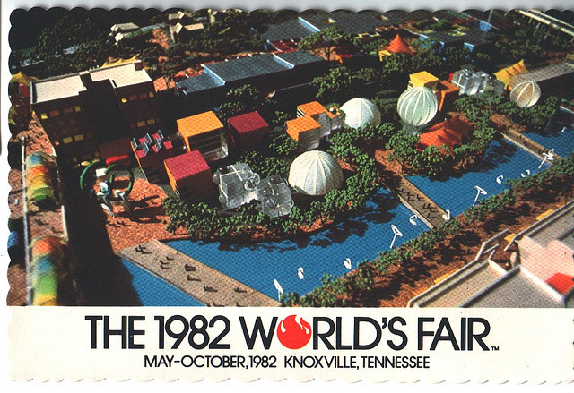 Vintage World's Fair postcard - Knoxville (1982)