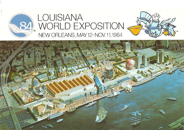 Vintage World's Fair postcard - 1984 Louisiana World Exposition