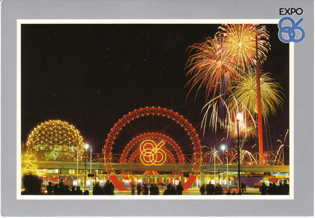 Vintage World's Fair postcard - Expo 86 (Vancouver)