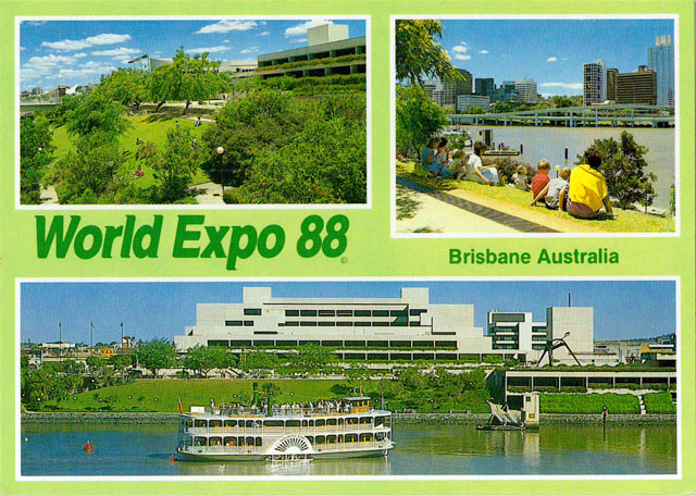 Vintage World's Fair postcard - World Expo 88 (Brisbane, Australia)