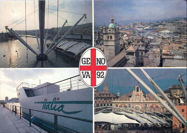 Vintage World's Fair postcard - International Exhibition Genoa '92 Colombo '92