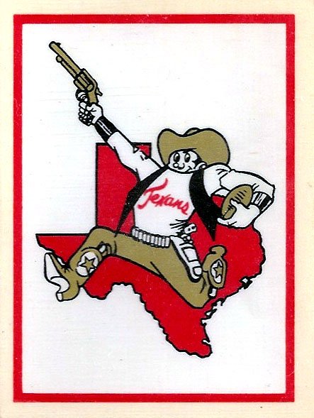 1960 AFL Team Logo Decal - Dallas Texans