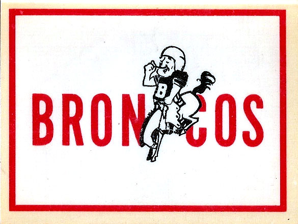 1960 AFL Team Logo Decal - Denver Broncos