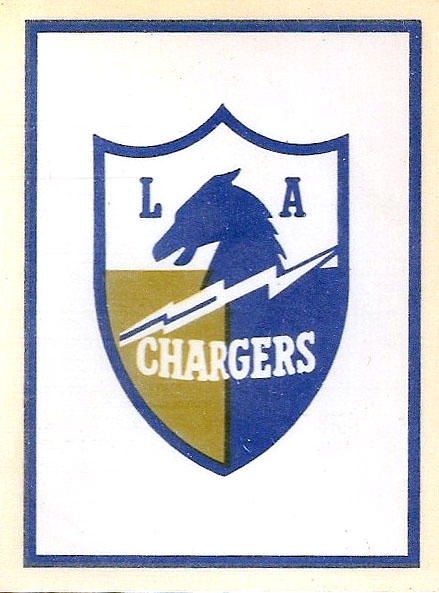 1960 AFL Team Logo Decal - Los Angeles Chargers