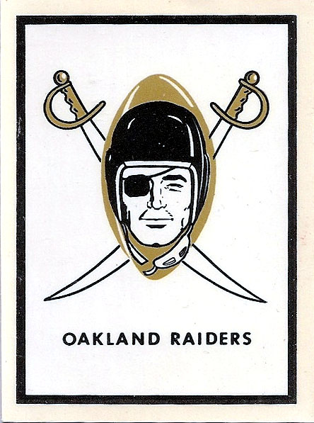 1960 AFL Team Logo Decal - Oakland Raiders