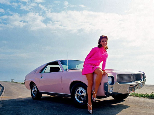 1968 AMX Pink with Angela Dorian-feat