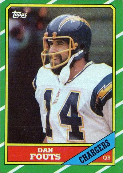 #14 -- Dan Fouts 1986 Topps