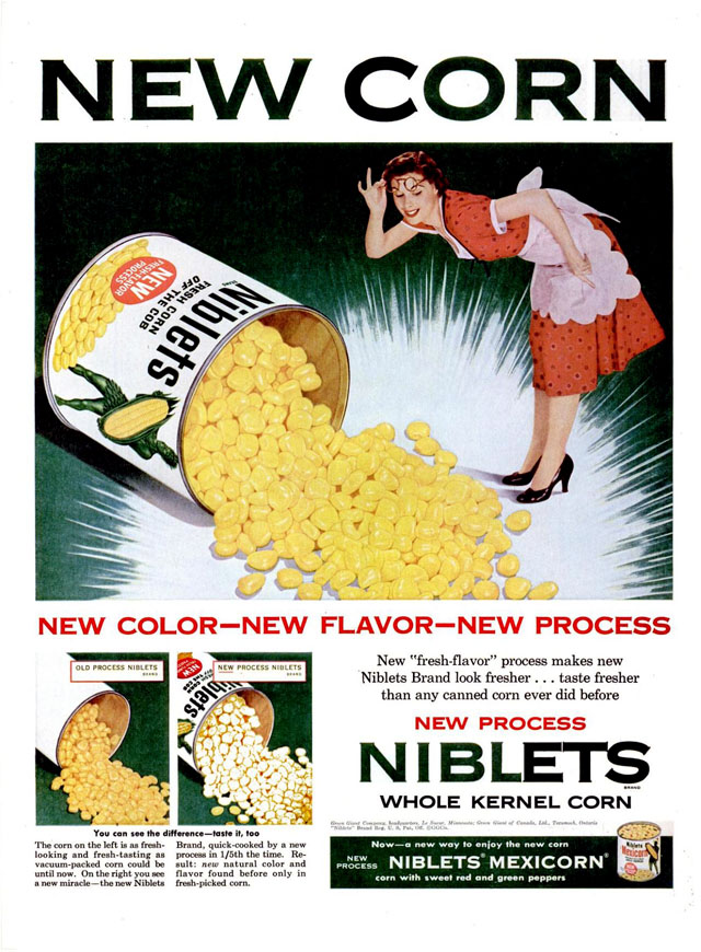 Green Giant Niblets ad, 1954