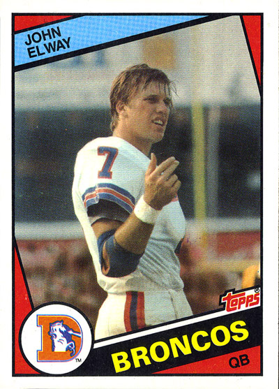 John Elway football card