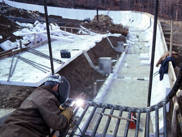Construction Scenes from the 1980 Winter Olympics Lake Placid Site, 1977-78