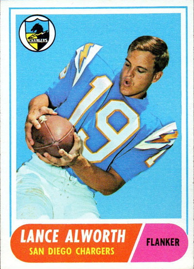 #19 -- Lance Alworth 1968 Topps