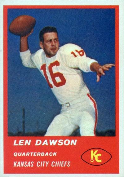 #16 -- Len Dawson 1963 Fleer