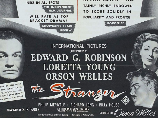 The Stranger (1946) poster detail