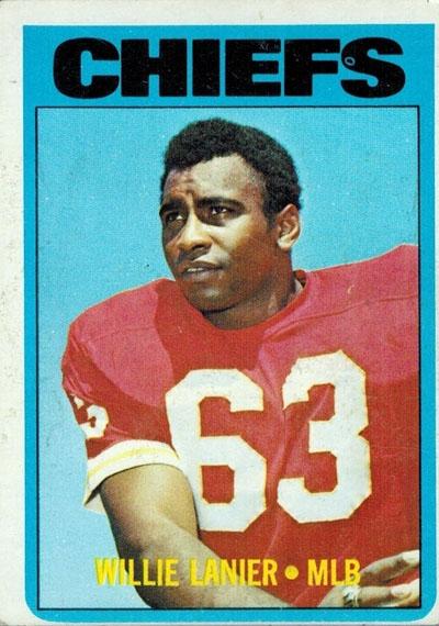 #63 -- Willie Lanier 1972 Topps