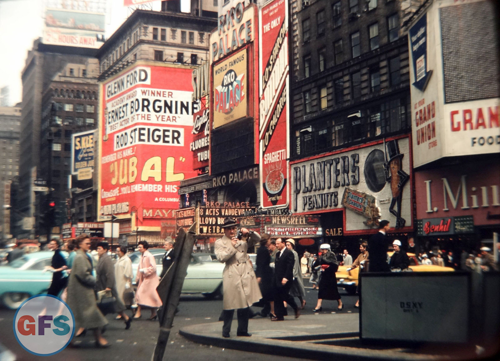 Vintage 1956 New York City Street Scene Photo