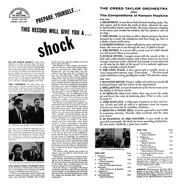 Shock Music in Hi-Fi by the Creed Taylor Orchestra