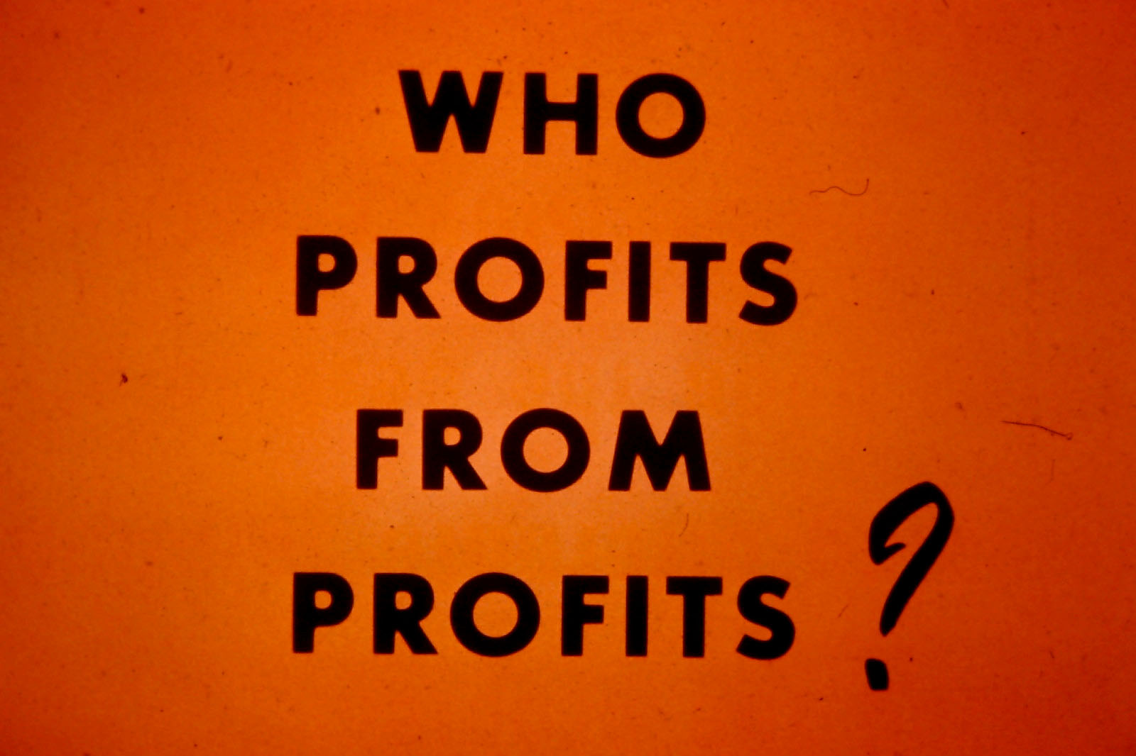 """Who Profits from Profits?"""