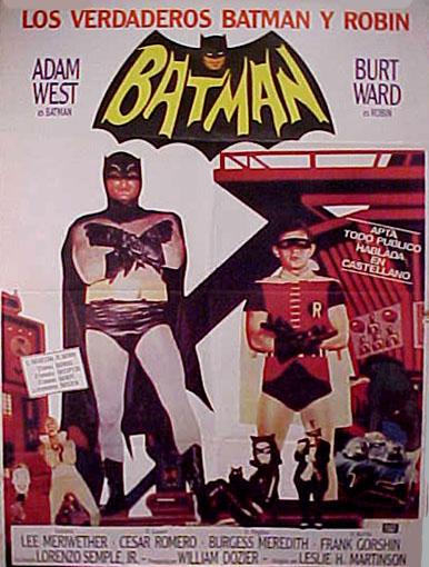 Batman (1966) Argentinian theatrical poster
