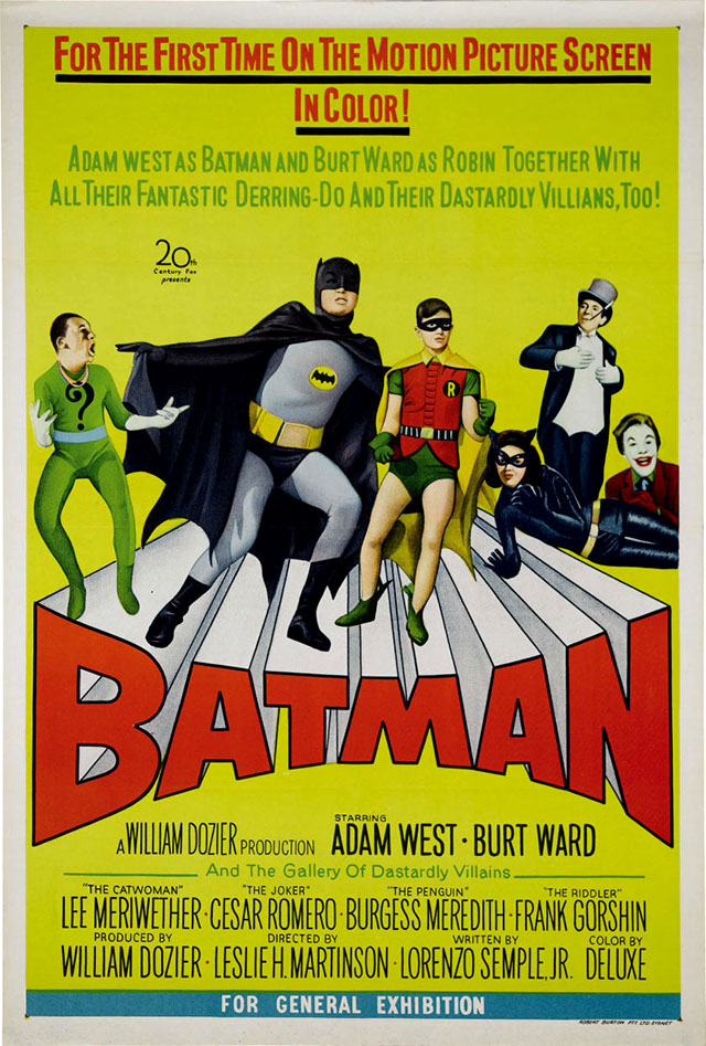 Batman (1966) movie poster - Australia