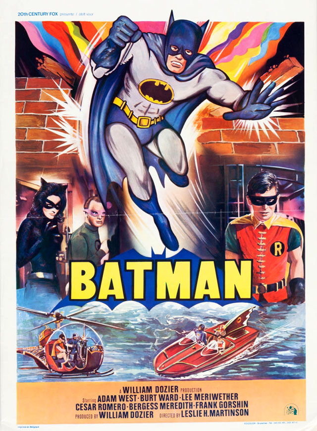Batman (1966) movie poster - Belgium