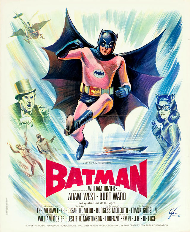 Batman (1966) French theatrical poster