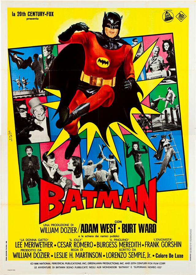 Batman (1966) movie poster - Italy