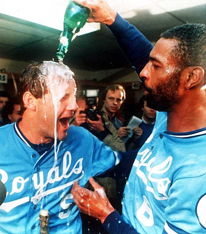 George Brett and Willie Wilson of the 1985 Kansas City Royals
