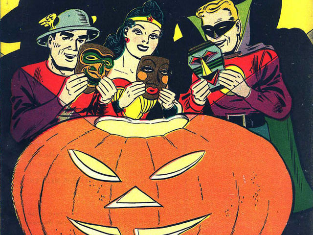 It's a Golden Age Superhero Halloween!