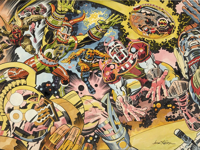 Jack Kirby's 1973 NFL Artwork Is Fantastic, Trippy As Hell