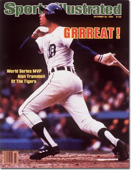 1984 Sports Illustrated with Alan Trammell of the Detroit Tigers