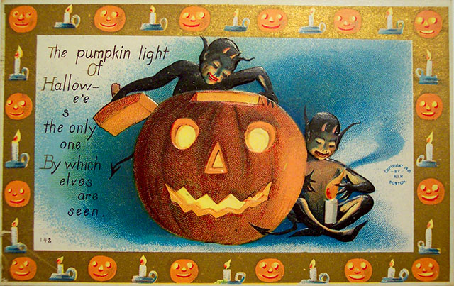 Vintage 1910 Halloween card