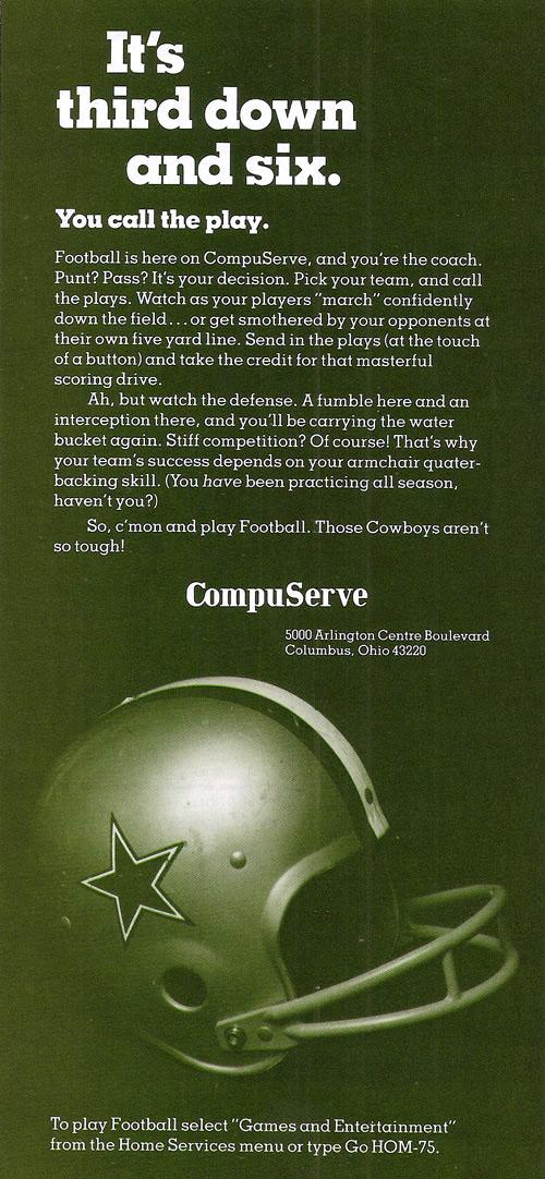 Vintage CompuServe advertisement (1982)