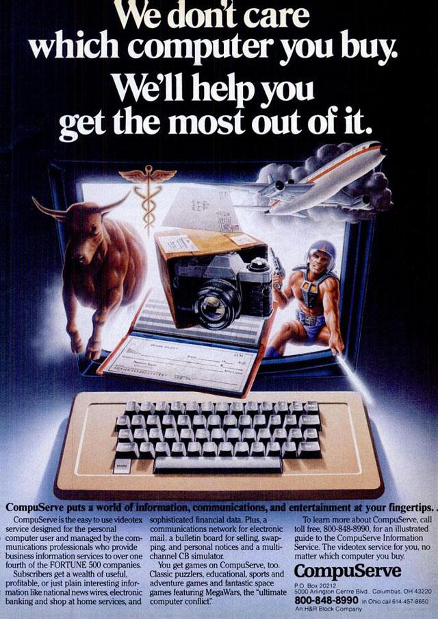 Vintage CompuServe advertisement (1983)