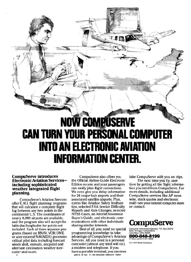Vintage CompuServe advertisement (1984)