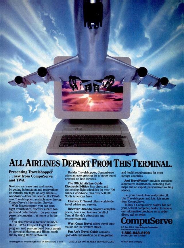 Vintage CompuServe advertisement (1985)
