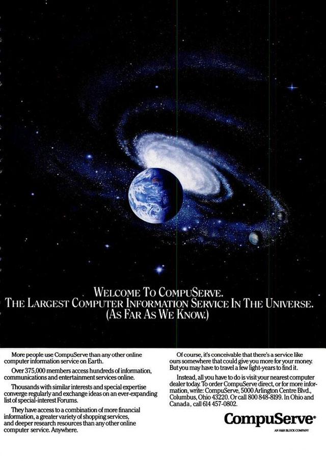 Vintage CompuServe advertisement (1987)