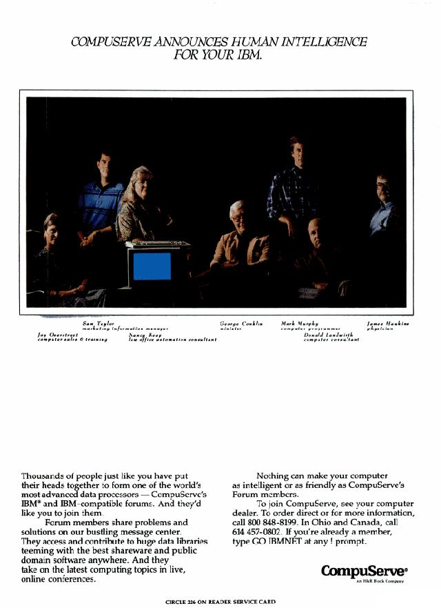 Vintage CompuServe advertisement (1988)