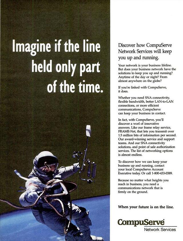 Vintage CompuServe advertisement (1994)