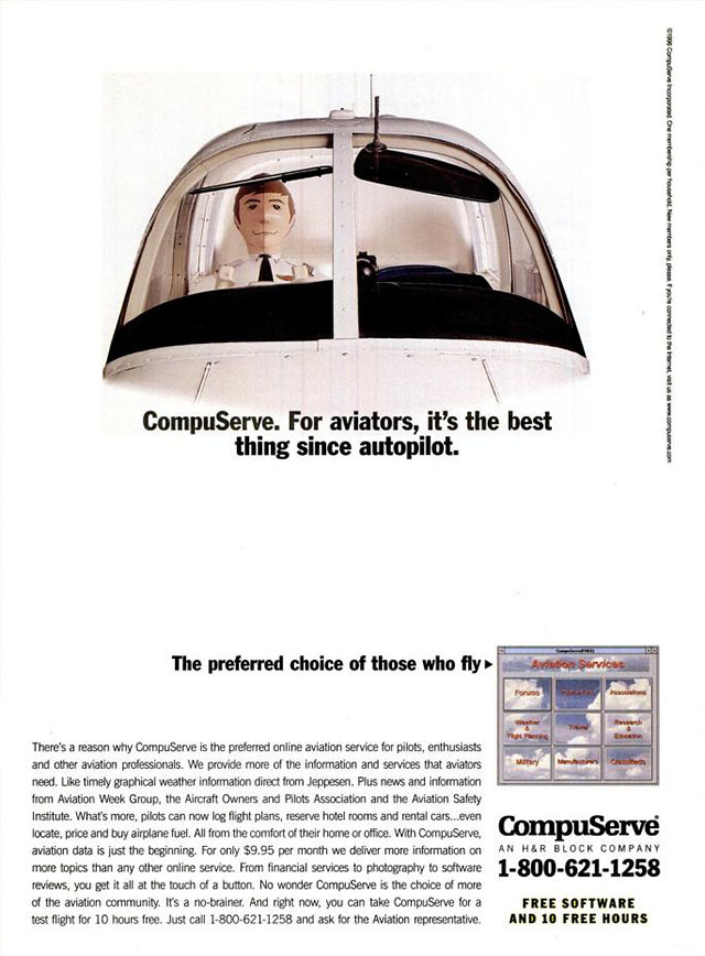 Vintage CompuServe advertisement (1996)