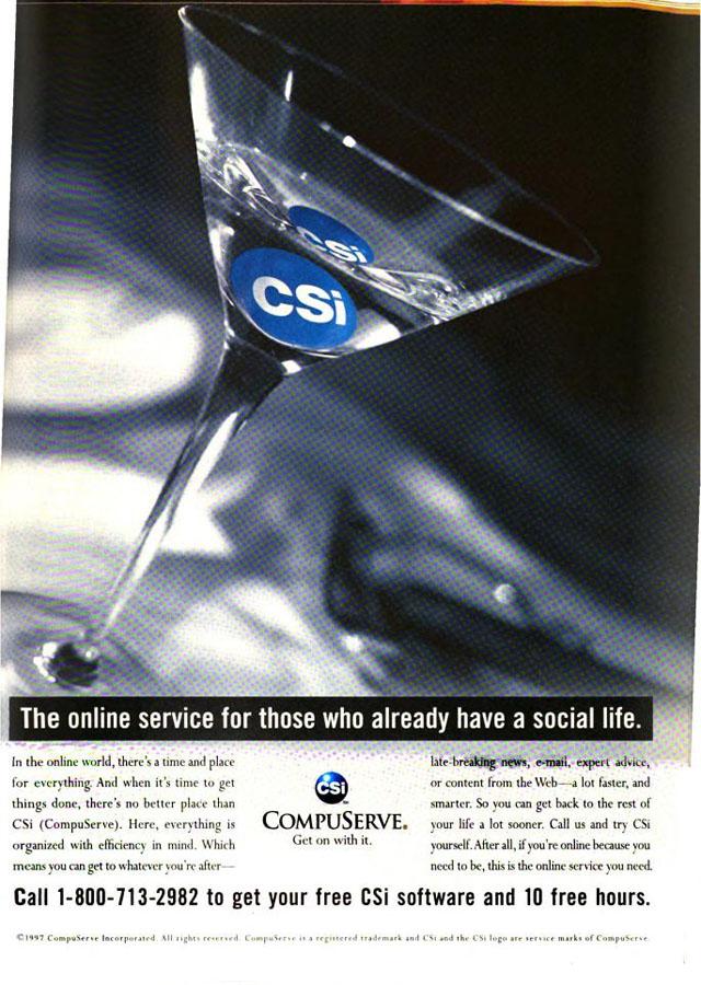 Vintage CompuServe advertisement (1997)